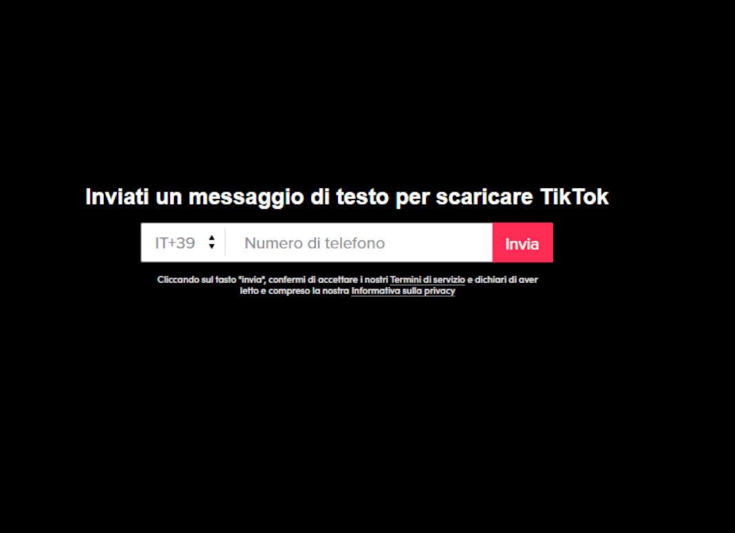 SMS TikTok