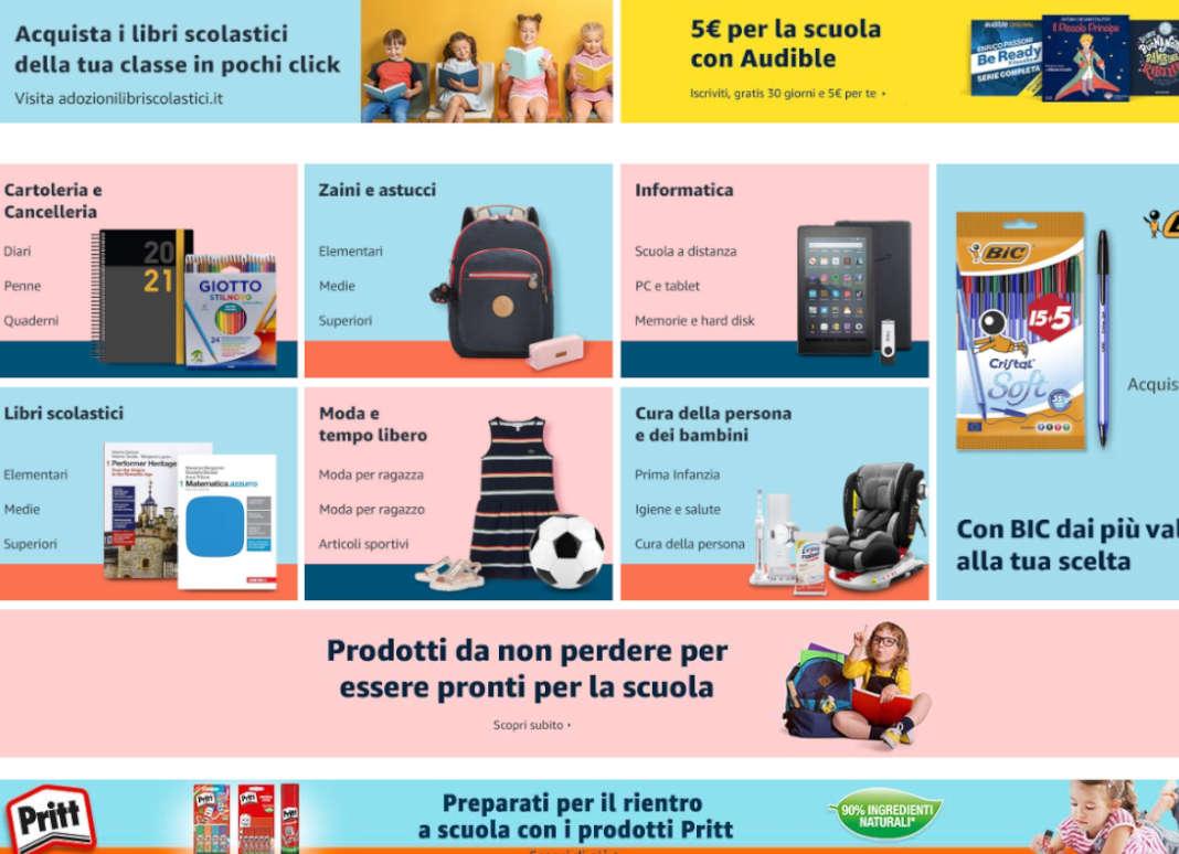 Amazon scuola prodotti