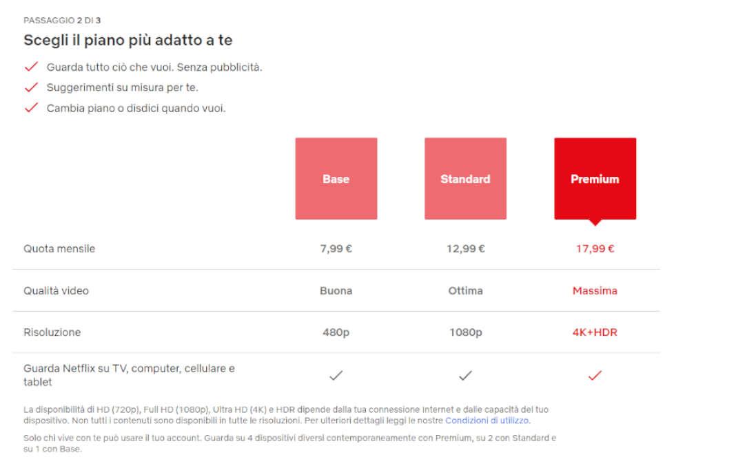 Netflix aumento di prezzo